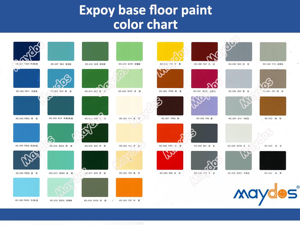 الرسم البياني لون الطلاء الايبوكسي