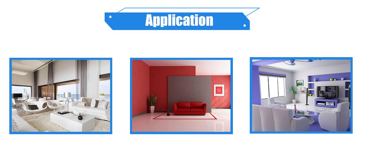 تطبيق طلاء الجدران