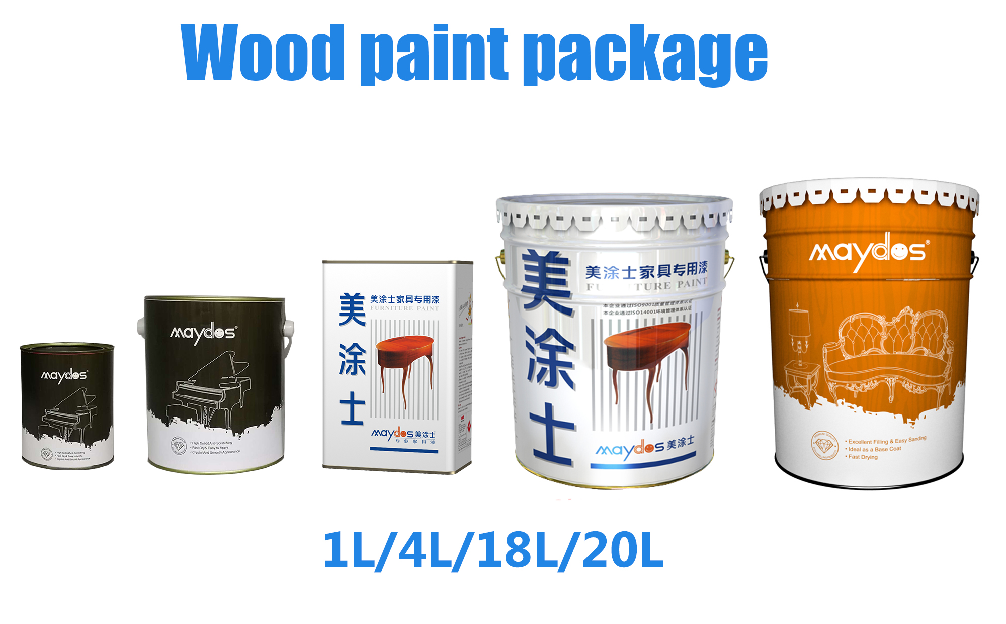 wood paint package